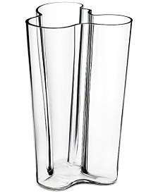 "Iittala Aalto Finlandia 10"" Clear Vase"