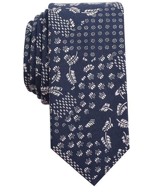 Bar III Men's Patchwork Print Slim Tie, Created for Macy's