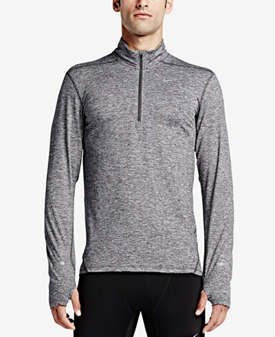 Nike Men's Element Dri-FIT Half-Zip Running Shirt - T-Shirts - Men ...