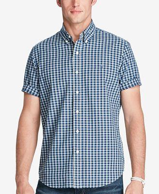 Polo Ralph Lauren Men's Indigo Plaid Short Sleeve Shirt - Casual ...