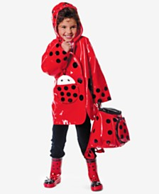 Kidorable Ladybug Raincoat, Toddler Girls