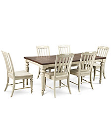 Barclay Expandable Dining Room Furniture, 7-Pc. Set (Dining Table & 6 Side Chairs)
