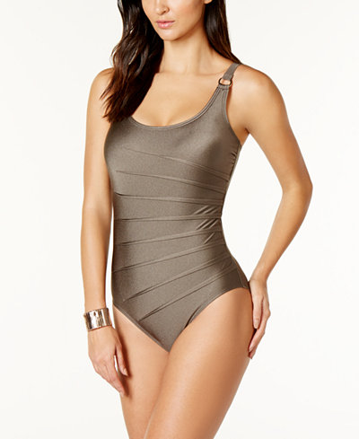 Calvin Klein Starburst One-Piece Swimsuit,Created for Macy's Style