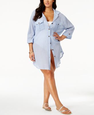 Dotti Plus Size Shirtdress Cover Up