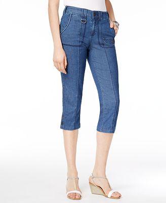 Style & Co Cargo Capri Pants, Created for Macy's - Pants - Women ...