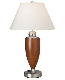 CLOSEOUT! Pacific Coast Wood Column with Metal Base Table Lamp