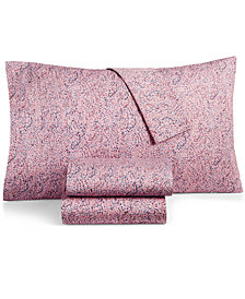BCBGeneration Cotton Percale 200 Thread Count Small Dots Twin XL Sheet Set