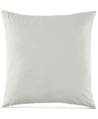 "Embroidered Floral 20"" Square Decorative Pillow"