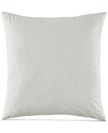 "BCBGeneration Embroidered Floral 20"" Square Decorative Pillow"