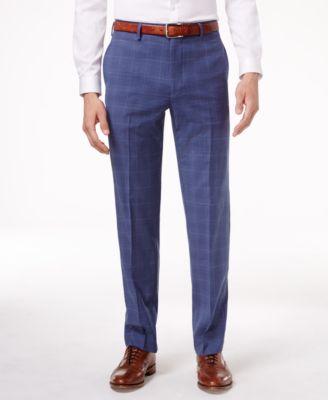 Plaid Dress Pants Men B0DIdlm7