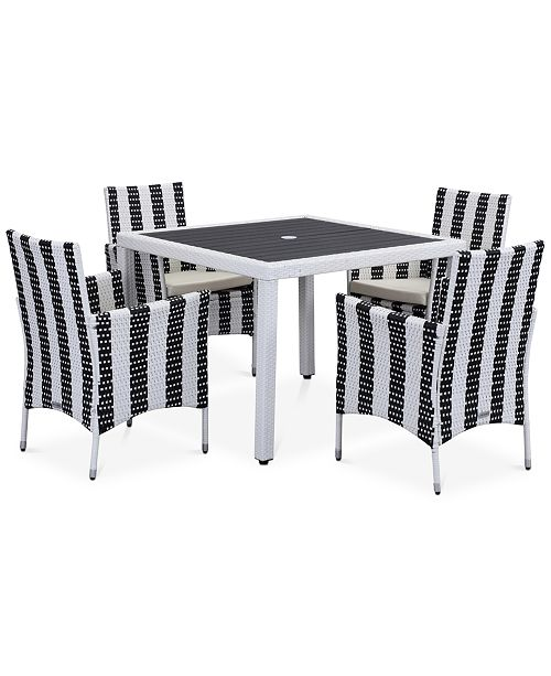 Safavieh Elsen Outdoor 5-Pc. Dining Set (Dining Table & 4 Chairs)