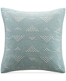 "INK+IVY Cario Embroidered 18"" Square Decorative Pillow"