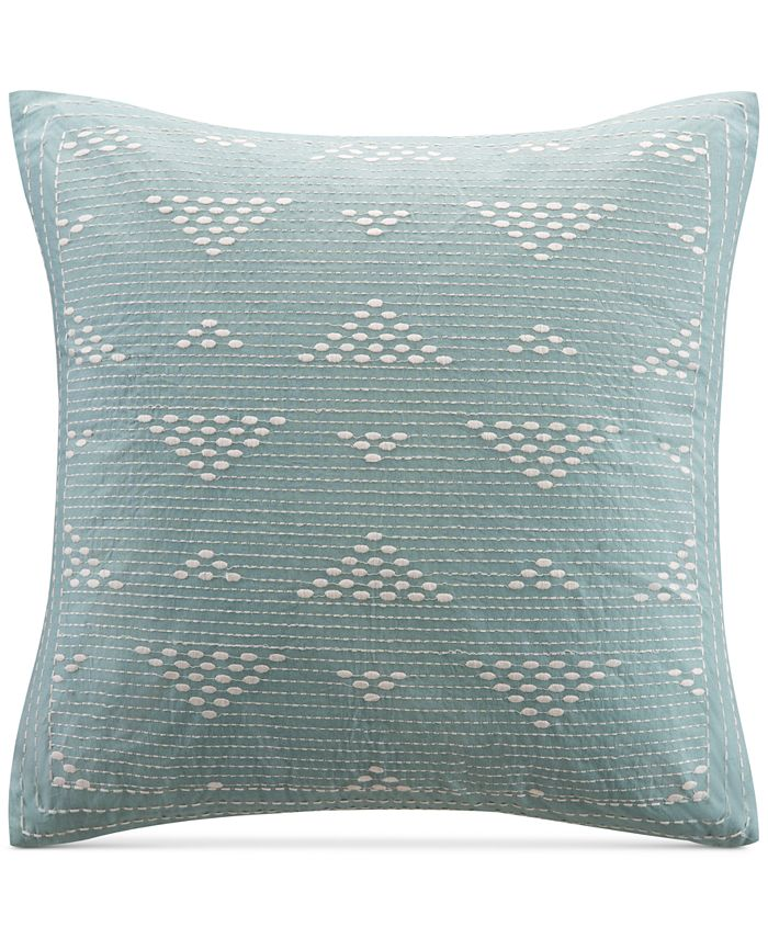 """INK+IVY - Cario Embroidered 18"""" Square Decorative Pillow"""