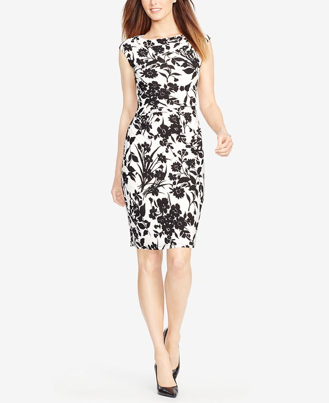 American Living Ruched Jersey Dress