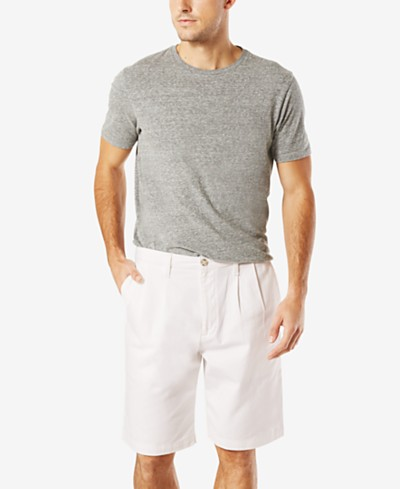Dockers Men's Stretch Classic Fit Double-Pleated 10.5 Shorts D3
