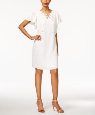 Msk lace top maxi dress