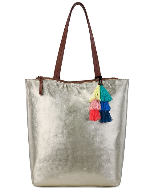 The Sak Palisade Reversible Tote Created For Macy S Handbags Accessories