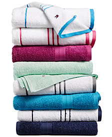 Tommy Hilfiger All American II Cotton Mix and Match Bath Towel Collection, Created for Macy's, Sold Individually