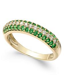 Emerald (1/2 ct. t.w.) & Diamond (1/4 ct. t.w.) Ring in 14k Gold