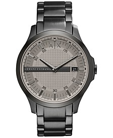 Men's Gunmetal-Tone Stainless Steel Bracelet Watch 46mm AX2194