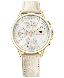 Women's Sophisticated Sport Nude Saffiano Leather Strap Watch 40mm 1781790