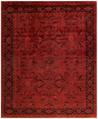 macyu0027s fine rug gallery one of a kind overdyed zeigler k570670 rust 9u0027
