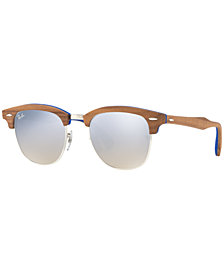 Ray-Ban CLUBMASTER WOOD Sunglasses, RB3016M 51