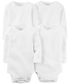 Baby Boys' or Baby Girls' 4-Pack Solid Bodysuits