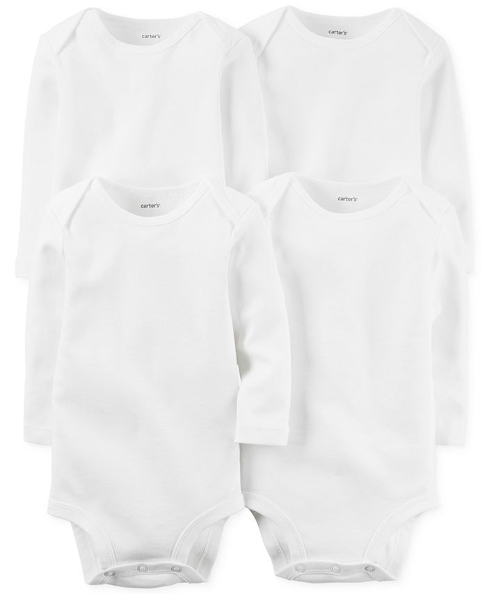 Carter's - Baby 4-Pack Long-Sleeve Solid Bodysuits