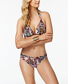Kenneth Cole Pure Instincts Push-Up Halter Bikini Top & Bottoms