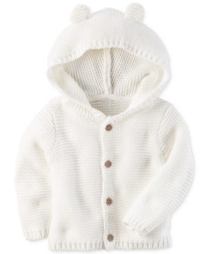 Carters Hooded Ears Cotton Cardigan Baby Boys  Girls (024 months)