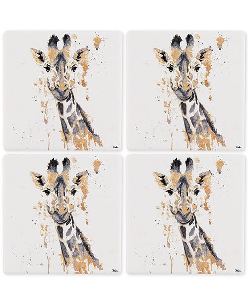 3c142d2d6 Thirstystone Giraffe 4-Pc. Occasions Coaster Set   Reviews - Bar ...