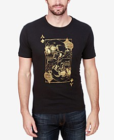 Men's Ace Skulls Graphic-Print Cotton T-Shirt