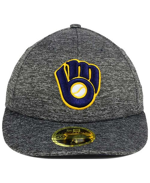 sports shoes 65a8e 811fe ... New Era Milwaukee Brewers Shadowed Low Profile 59FIFTY Cap ...