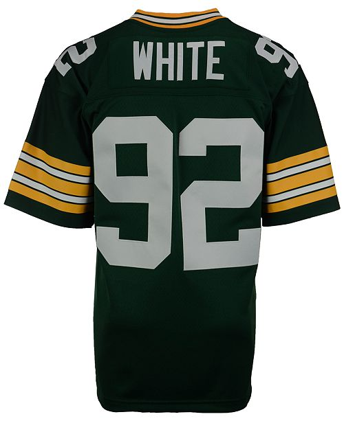 sneakers for cheap aaf75 48c5f Men's Reggie White Green Bay Packers Replica Throwback Jersey