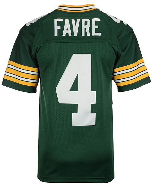 competitive price d319a cd852 Men's Brett Favre Green Bay Packers Replica Throwback Jersey