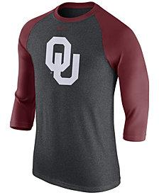 Nike Men's Oklahoma Sooners Triblend Logo 3/4 Sleeve Raglan T-Shirt