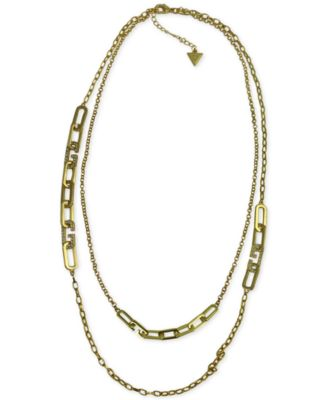 Image of GUESS Pavé Double Row Necklace