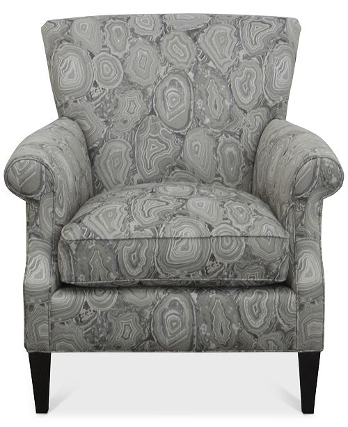 Mccreary Dial Ii Printed Accent Chair Reviews Furniture Macys