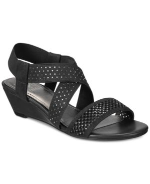 Impo Griselle Stretch Embellished Wedge Sandals Women