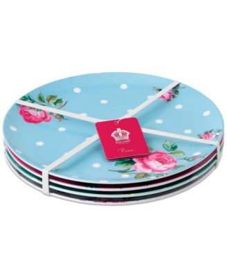 main image ...  sc 1 st  Macyu0027s & Royal Albert Vintage Mix Picnic Collection 4-Pc. Melamine Dinner ...