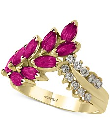 Amoré by EFFY® Certified Ruby (2 ct. t.w.) and Diamond (1/4 ct. t.w.) Ring in 14k Gold