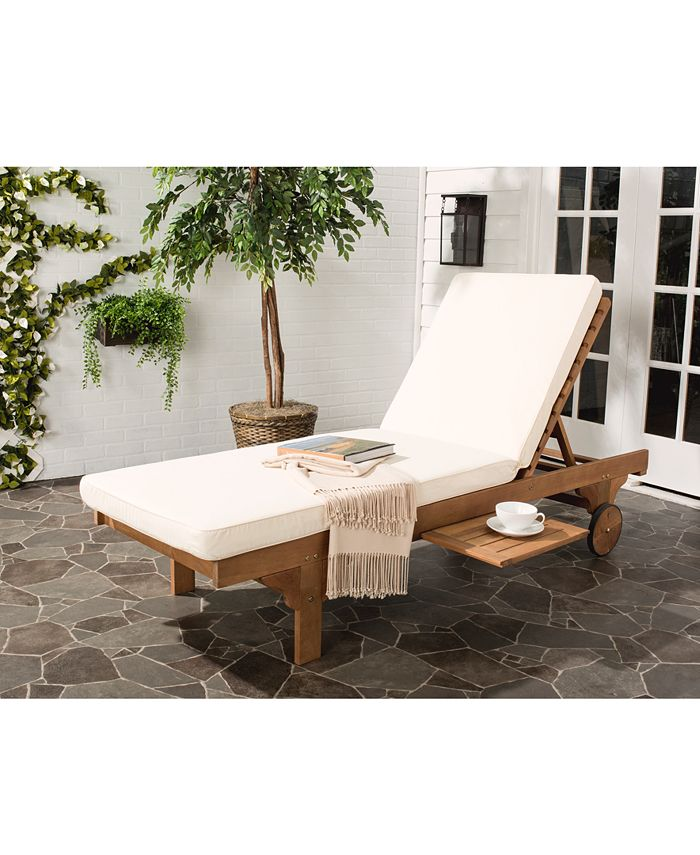 Safavieh - Jenne Outdoor Lounge with Side Table, Quick Ship