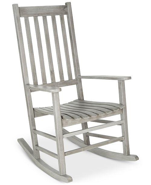 Safavieh Evaline Outdoor Rocking Chair, Quick Ship