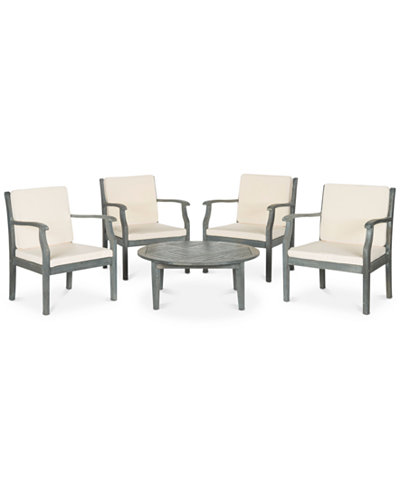 Fadell Outdoor Pc Seating Set Chairs Coffee Table Quick - Coffee table with 4 chairs