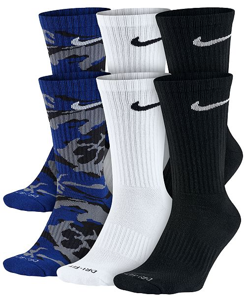 0d50f86c8 Nike Men s Dry Cushioned Crew Socks 6-Pack   Reviews ...
