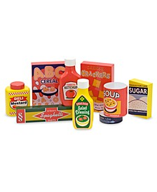 Toy, Wooden Pantry Products Set