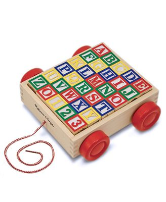 Melissa and Doug Toy, Classic ABC Block Cart