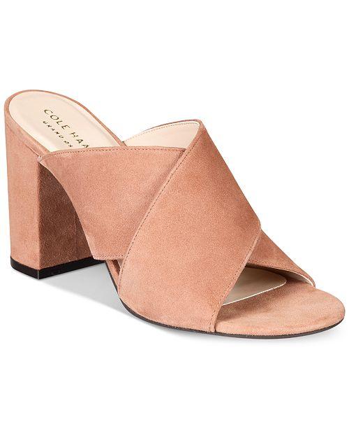 5fe6d939fad Cole Haan Gabby Slip-On Block-Heel Sandals   Reviews - Shoes ...