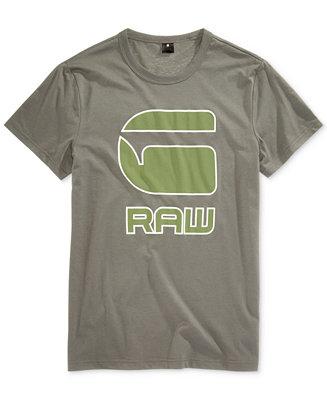 G Star Raw Men's Cadulor Graphic Print Cotton T Shirt